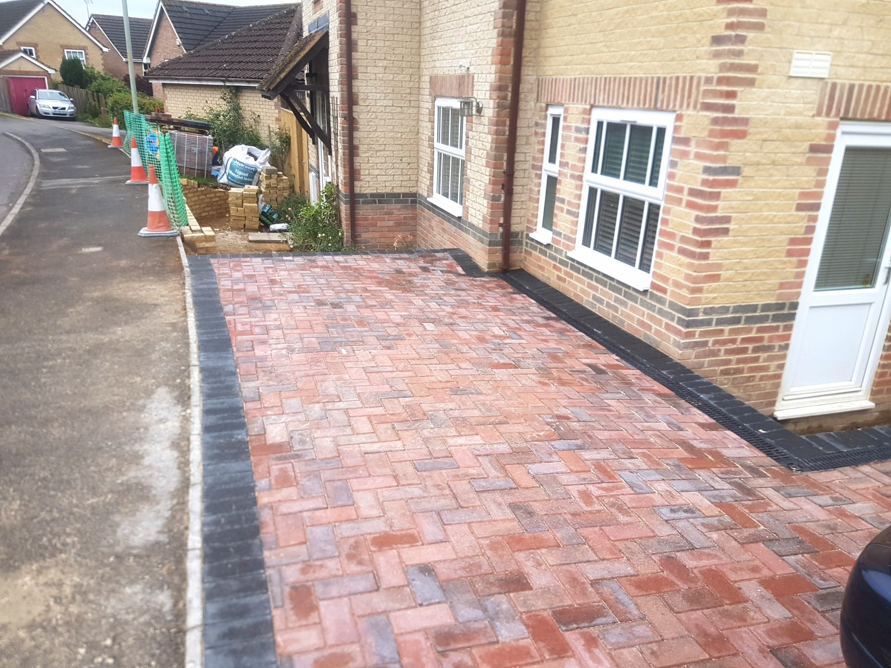 Block paving drive in Wiltshire