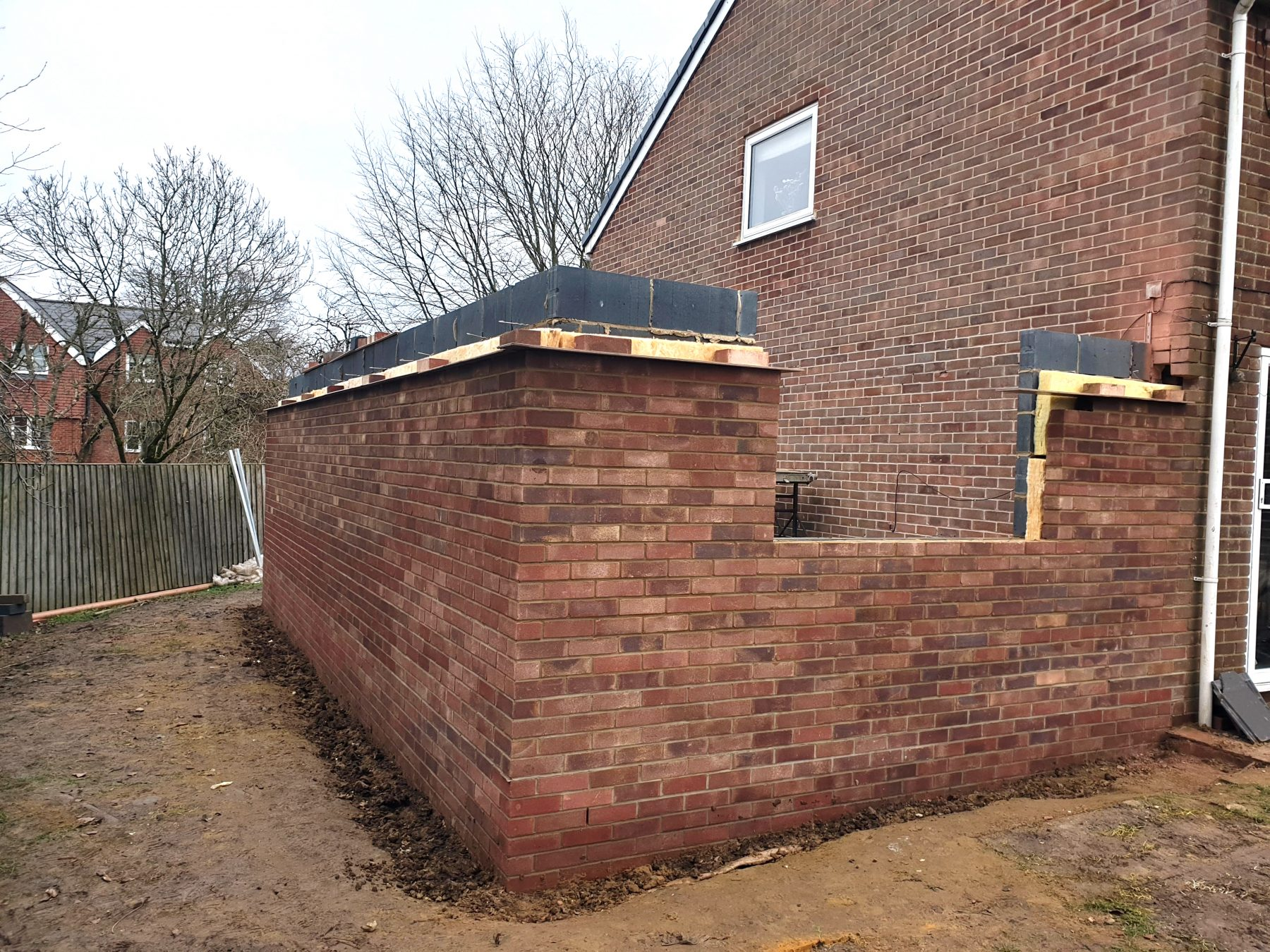 Brickwork for extension in Marlborough, Wiltshire